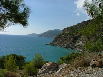 Rough Cilicia's coastline