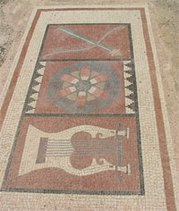 Mosaic in the temple to Apollo