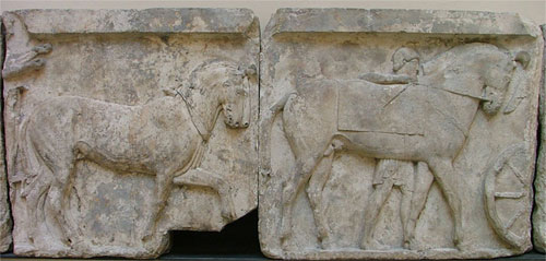 Horses relief from Xanthos