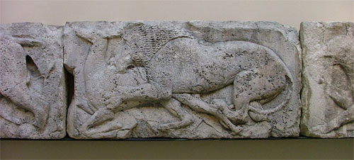 Lion relief from Xanthos