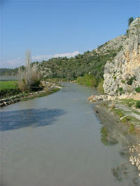 Xanthos River, at the base of Xanthos' acropolis
